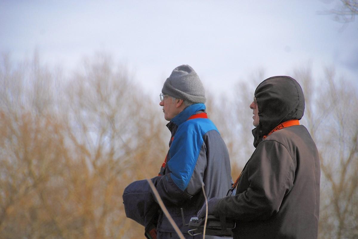 John and Alan concentrating hard